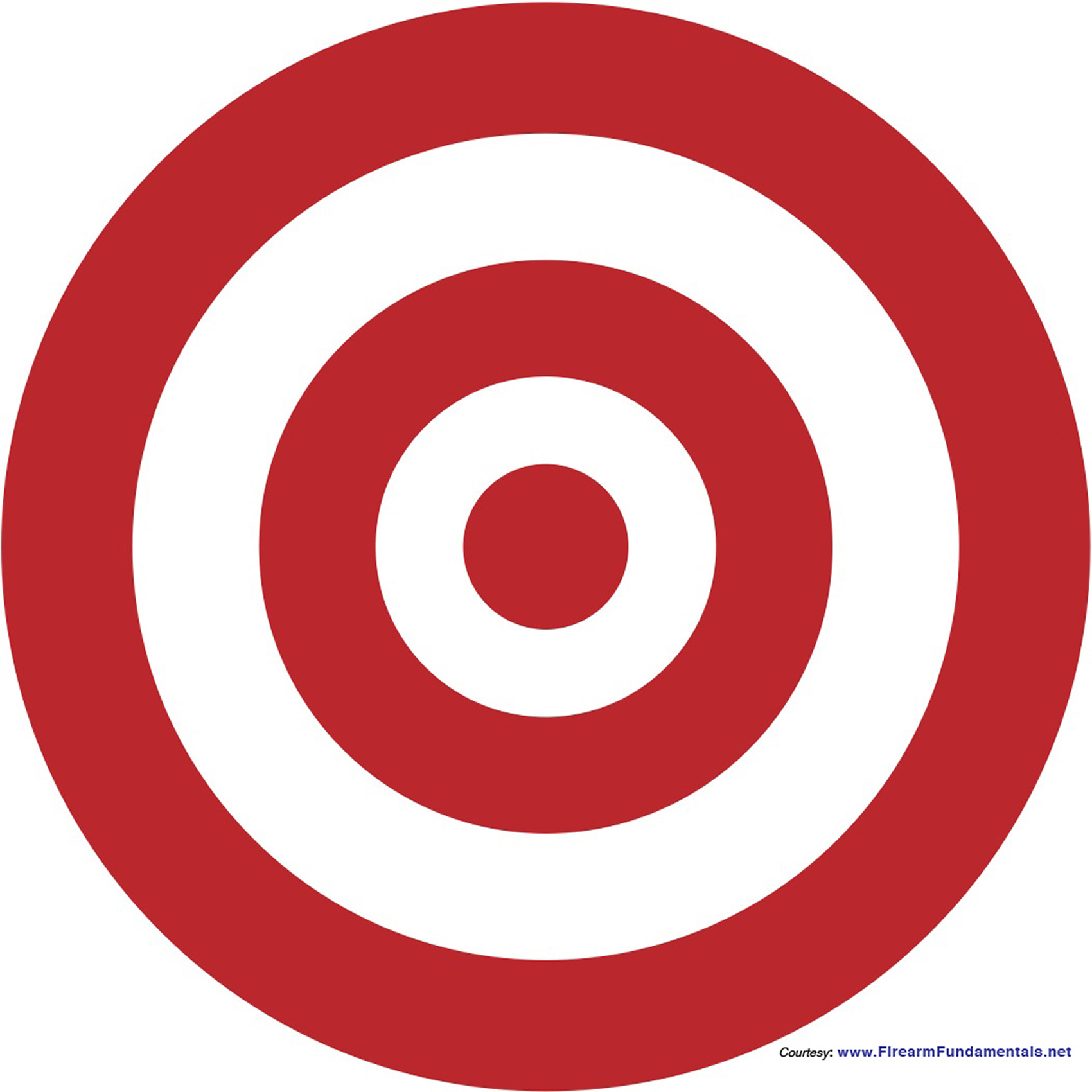 It is a picture of Accomplished Printable Bullseye Target
