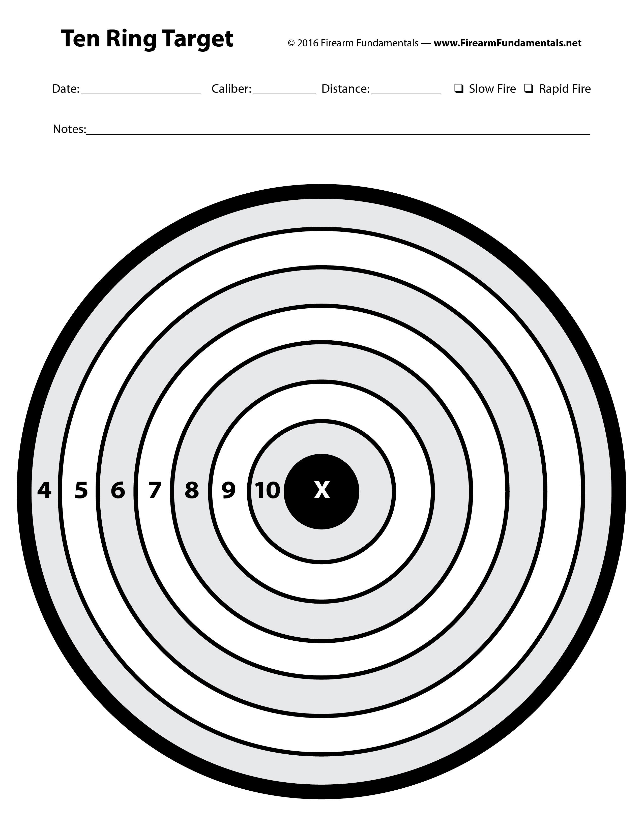 Firearm Fundamentals - Bonus, Targets